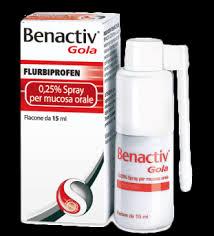 Benactiv gola spray effetti collaterali