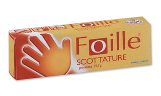 Foille scottature  pomata