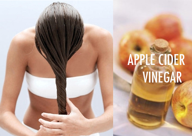 Aceto di mele per i capelli